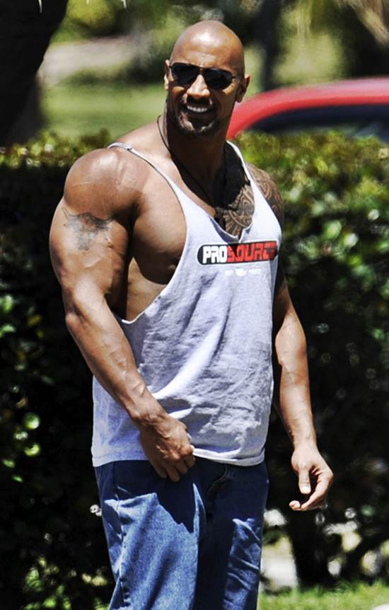 The first role, in which his massive muscle gain was evident, was in